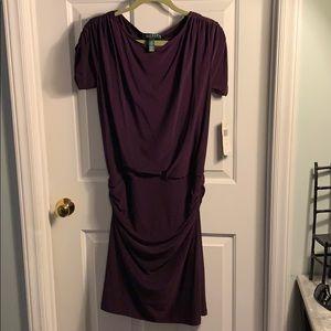 Lauren by Ralph Lauren Stretch Dress 8 NWT Raisin